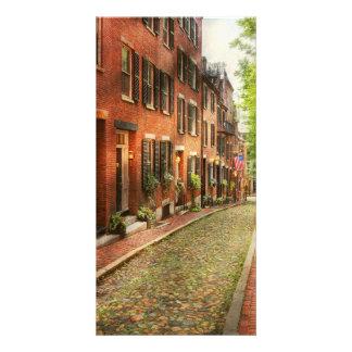 Ville - Boston mA - rue de gland Photocarte Customisée