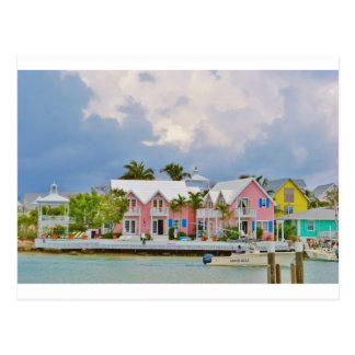 Ville colorée d'espoir, Bahamas Carte Postale