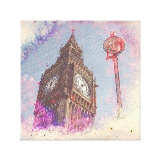 Ville dans la copie de toile de #purple de toiles