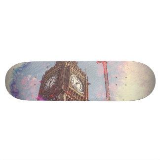 Ville dans le #skateboard de #purple de nébuleuse plateau de planche à roulettes
