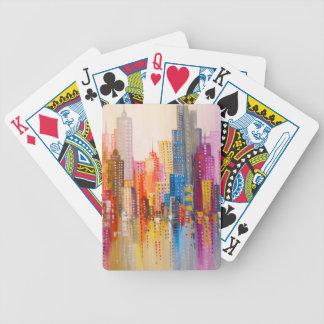Ville d'arc-en-ciel jeu de cartes