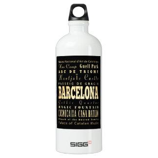Ville de Barcelone d'art de typographie de