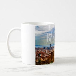 Ville de Barcelone Mug Blanc