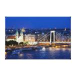 Ville de Budapest la nuit Toiles Tendues