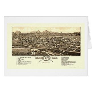 Ville de Canon, carte panoramique de Co - 1882