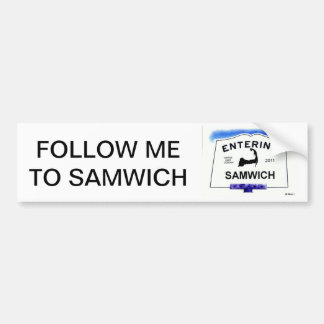 """Ville de Cape Cod, Samwich (sandwich aux """"étranger Autocollant Pour Voiture"""