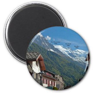 Ville de Chamonix Magnet Rond 8 Cm