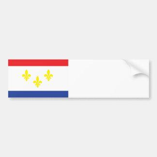 Ville de drapeau de la Nouvelle-Orléans Autocollant Pour Voiture