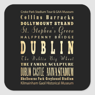 Ville de Dublin d art de typographie de l Irlande Adhésifs