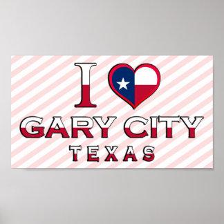 Ville de Gary, le Texas Affiches