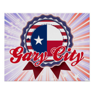 Ville de Gary, TX Affiches