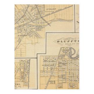 Ville de Huntington, Huntington Co Carte Postale