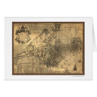 Ville de la carte de Boston - 1769