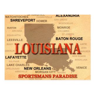 Ville de la Louisiane et carte de fierté d'état de