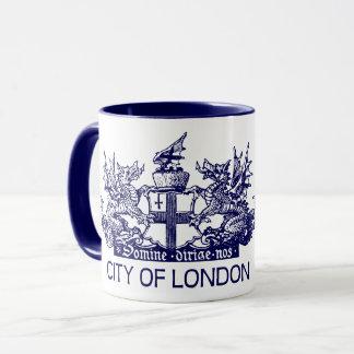 Ville de Londres, cru, manteau des bras, Mug