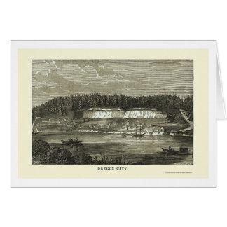 Ville de l'Orégon, OU carte panoramique - 1850