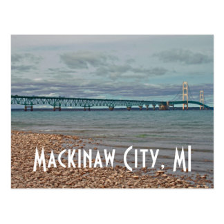 Ville de Mackinaw de pont de Mackinac, carte