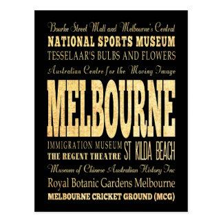 Ville de Melbourne d'art de typographie de Carte Postale