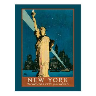 Ville de merveille de New York du monde Cartes Postales