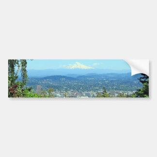 Ville de montagne pittoresque, Portland, OU Adhésif Pour Voiture