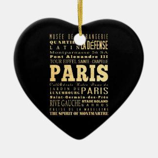 Ville de Paris d'art de typographie de la France Ornement Cœur En Céramique