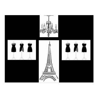 Ville de Paris de carte postale légère de Français