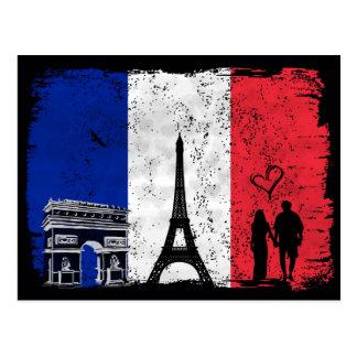 Ville de Paris de l'amour Carte Postale