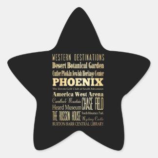 Ville de Phoenix d'art de typographie d'état de Sticker Étoile