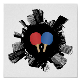 Ville de ping-pong poster