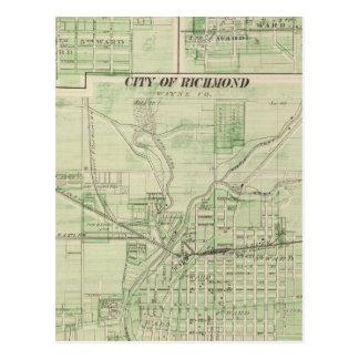Ville de Richmond, Wayne Co avec Centreville Carte Postale