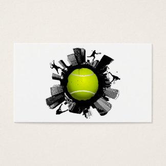 Ville de tennis cartes de visite
