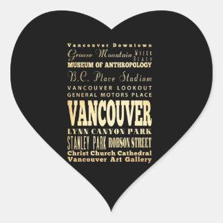 Ville de Vancouver d art de typographie du Canada Autocollants