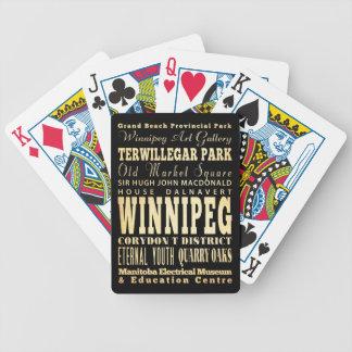 Ville de Winnipeg d'art de typographie du Canada Cartes À Jouer
