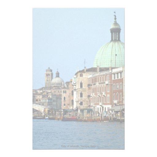 Ville des îles, Venise, Italie Papier À Lettre