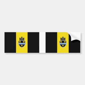 Ville DEUX de drapeau de Pittsburgh Autocollant De Voiture