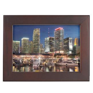 Ville d'horizon de Miami en Floride Boîte À Souvenirs