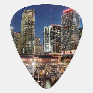 Ville d'horizon de Miami en Floride Onglet De Guitare