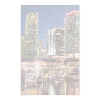 Ville d'horizon de Miami en Floride Papier À Lettre Personnalisé