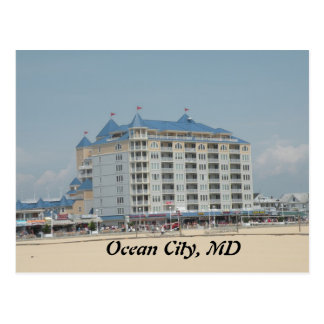 Ville d'océan, carte postale de DM