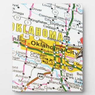 Ville d'Oklahoma, l'Oklahoma Plaque Photo