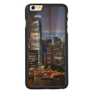 Ville du centre de Singapour la nuit Coque Mince En Érable iPhone 6 Plus