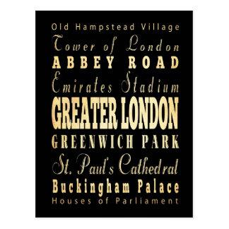 Ville du grand Londres de la typographie de Carte Postale