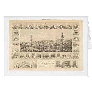 Ville du Nevada, carte panoramique 1856 (1184A) de
