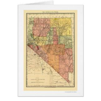 Ville du Nevada et carte 1893 de chemin de fer