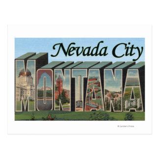 Ville du Nevada, Montana Carte Postale