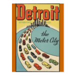 Ville Etats-Unis - voyage vintage de moteur de Carte Postale
