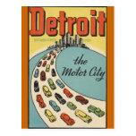 Ville Etats-Unis - voyage vintage de moteur de Det Carte Postale