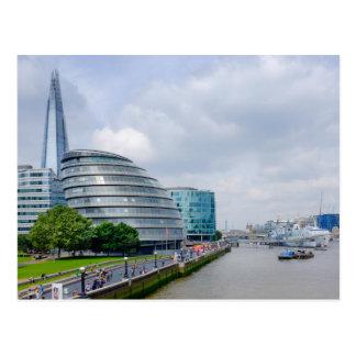 Ville hôtel, carte postale de Londres R-U
