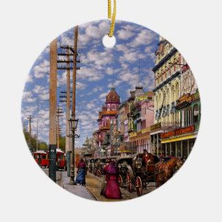 Ville - la Nouvelle-Orléans l'ère victorienne 1887 Ornement Rond En Céramique