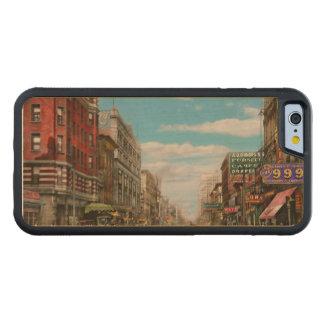Ville - Memphis TN - mail 1909 de rue principale Coque iPhone 6 Bumper En Érable